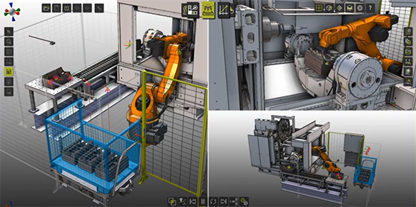 Machine Tending Digital Twin with Kuka