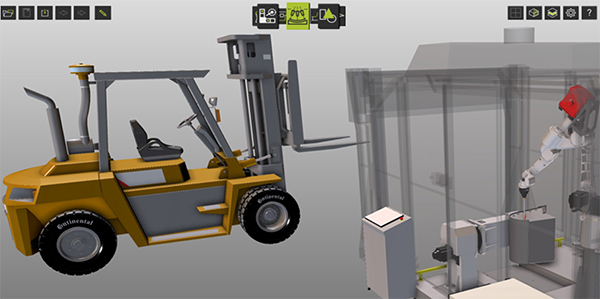 Welding robots increase production of industrial forklifts