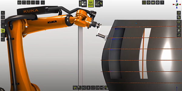 Ultrasonic NDT with KUKA for aerospace